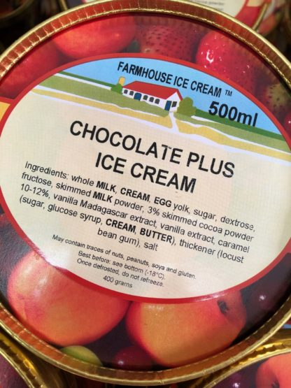 Chocolate Plus Ice Cream Lid