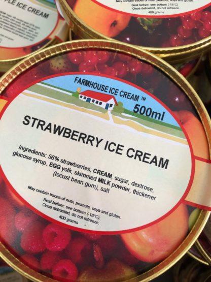 Strawberry Ice Cream Lid