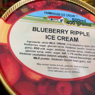 Blueberry Ripple Ice Cream Lid
