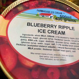 Blueberry Ripple Ice Cream Lid