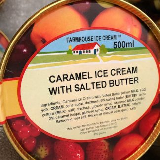 Caramel Salted Butter Ice Cream Lid