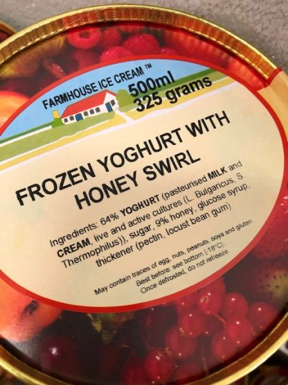 Frozen Yoghurt with Honey Swirl Lid