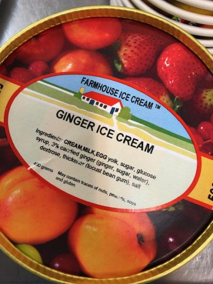 Ginger Ice Cream Lid