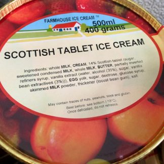 Scottish Tablet Ice Cream Lid