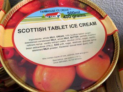 Scottish Tablet Ice Cream Lid