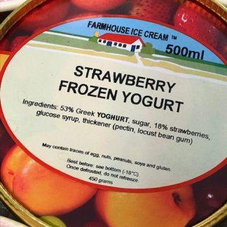 Strawberry Frozen Yoghurt Ice Cream Lid