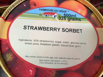 Strawberry Sorbet Lid