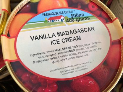 Vanilla Madagascar Ice Cream Lid