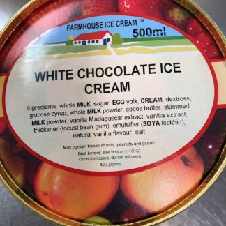 White Chocolate Ice Cream Lid