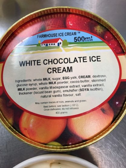 White Chocolate Ice Cream Lid