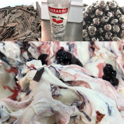 Black Forest Ice Cream Collage