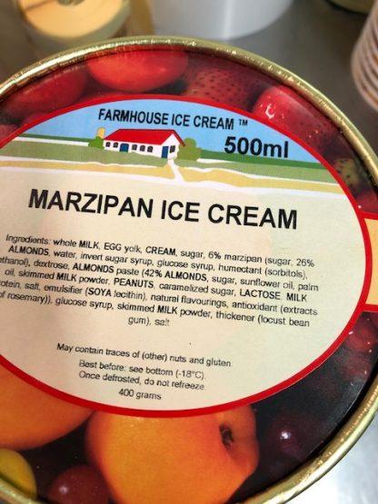 Marzipan Ice Cream lid