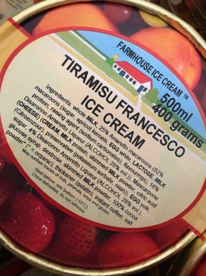 Tiramisu Francesco Ice Cream Lid
